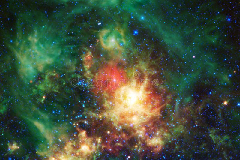 Beautiful nebula and bright stars in outer space, glowing mysterious universe. Elements of this image furnished by NASA stock photo