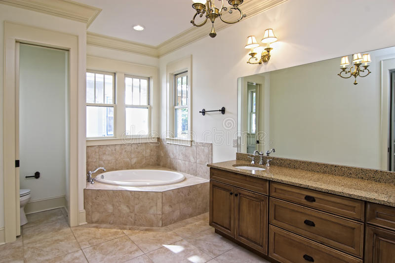 Beautiful new construction bathroom stock photo image 15162622 for Average time to remodel a bathroom