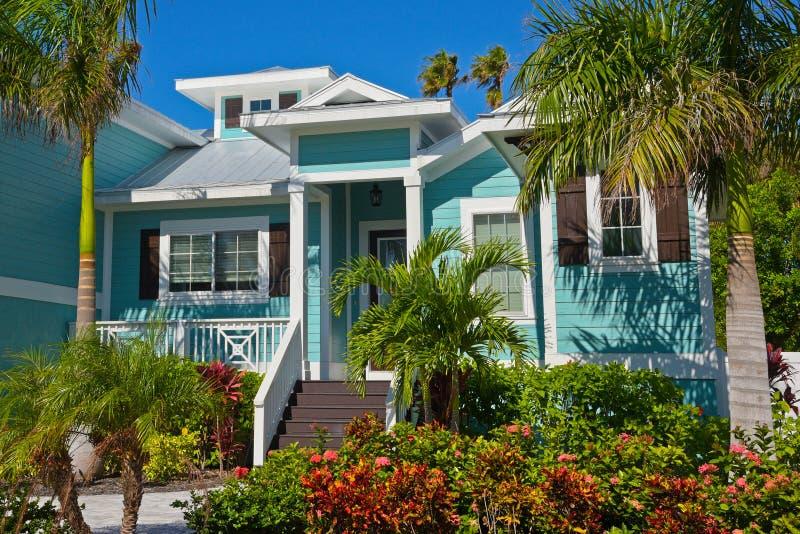 Beautiful Florida House stock photo  Image of landscaping