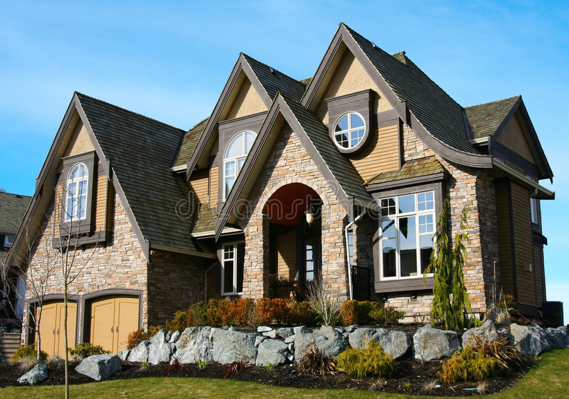 Beautiful new house royalty free stock images