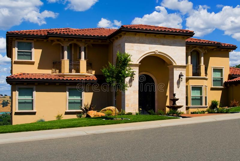 Beautiful new house stock images