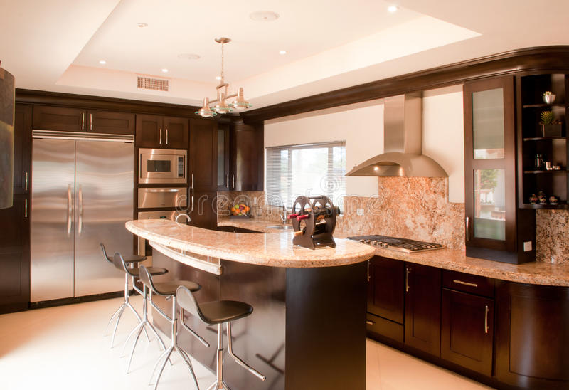 Beautiful New Kitchen stock photo