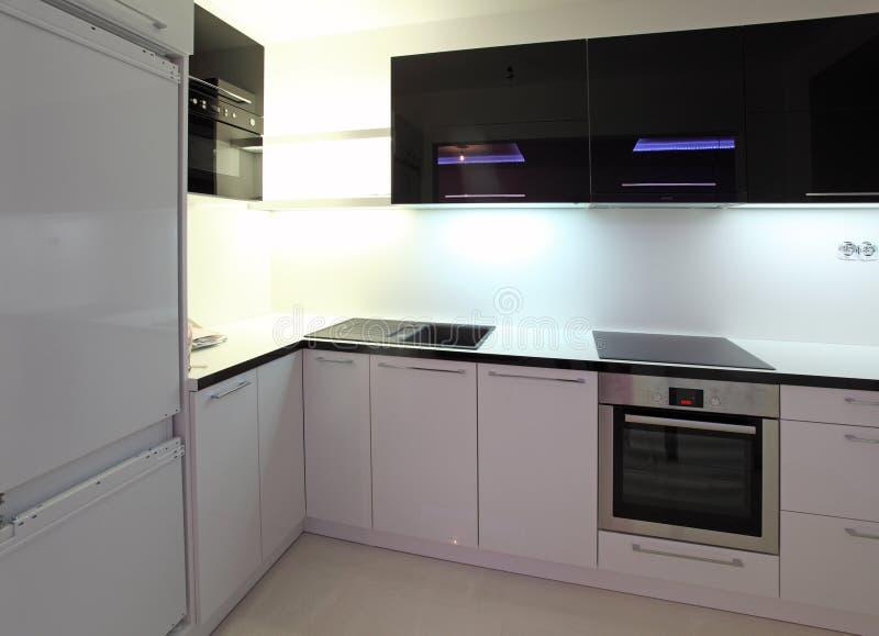 A beautiful new kitchen stock photos