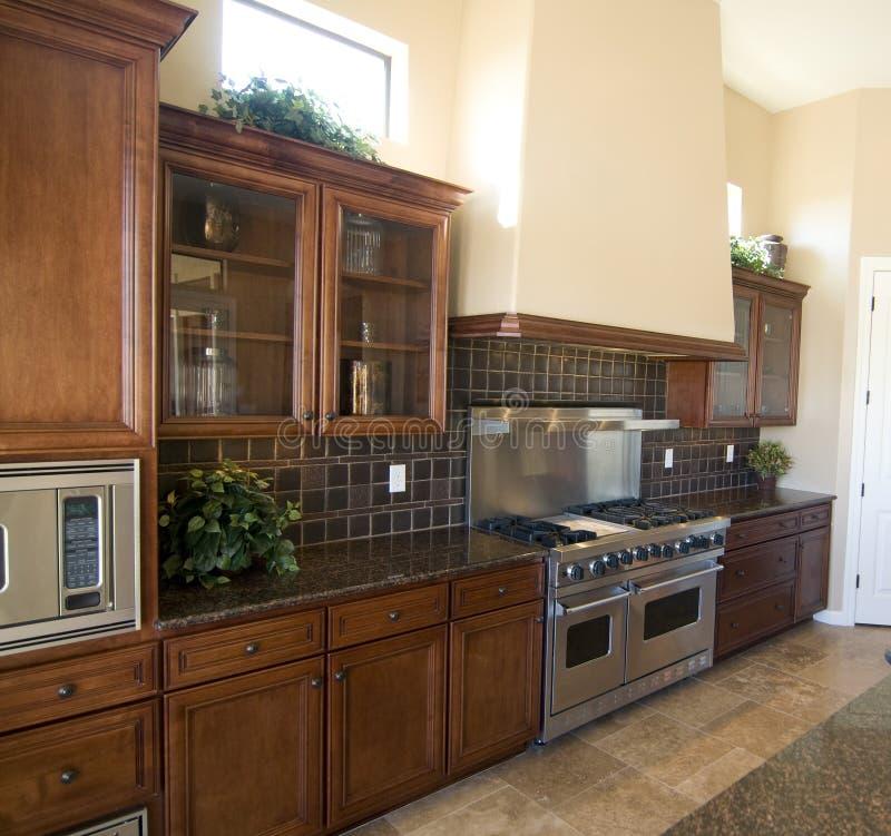 Beautiful new kitchen royalty free stock photos