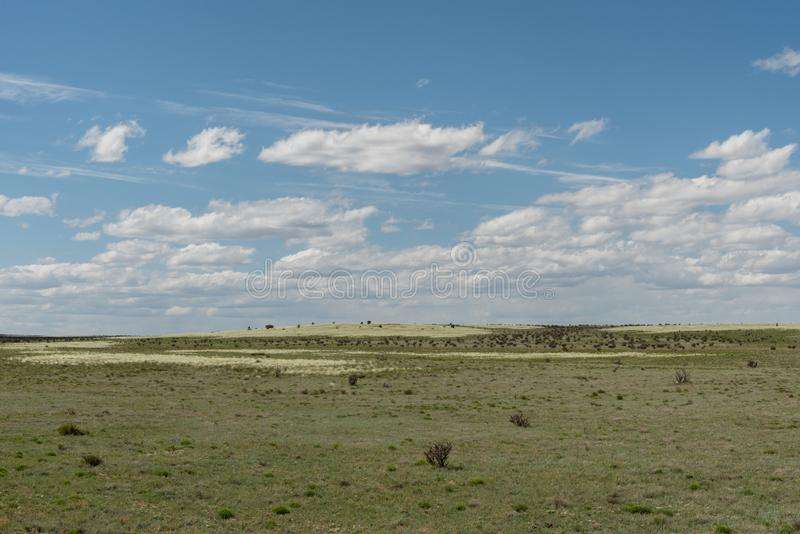 Beautiful New Mexico vista in springtime royalty free stock image