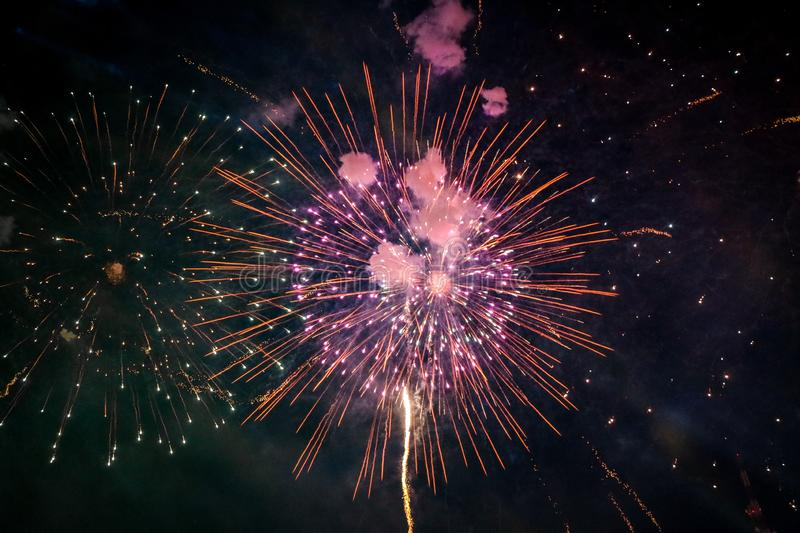 Beautiful new year firework from Thailand royalty free stock photo