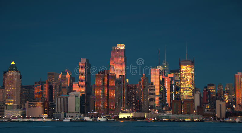 Beautiful new york cityscape over the hudson stock image