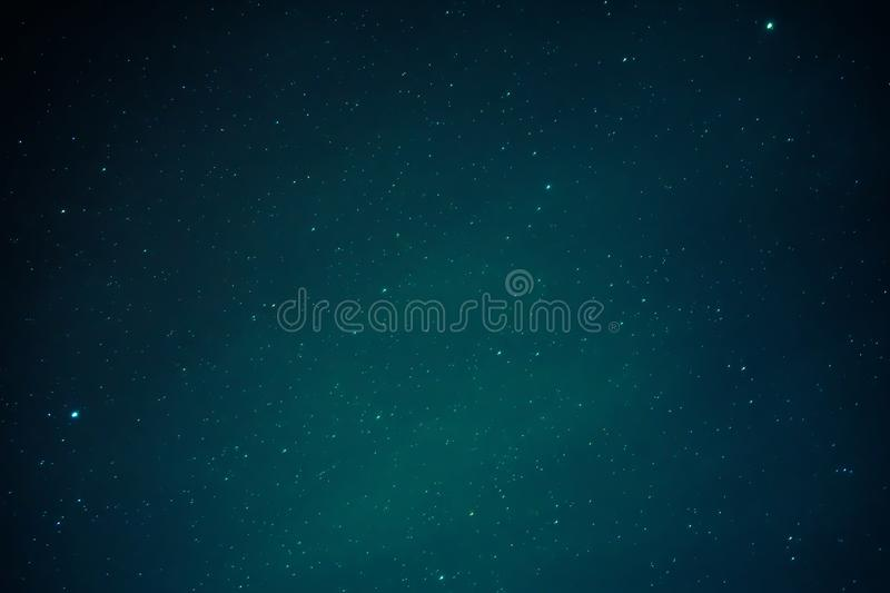 Beautiful night blue sky with many stars. stock photography