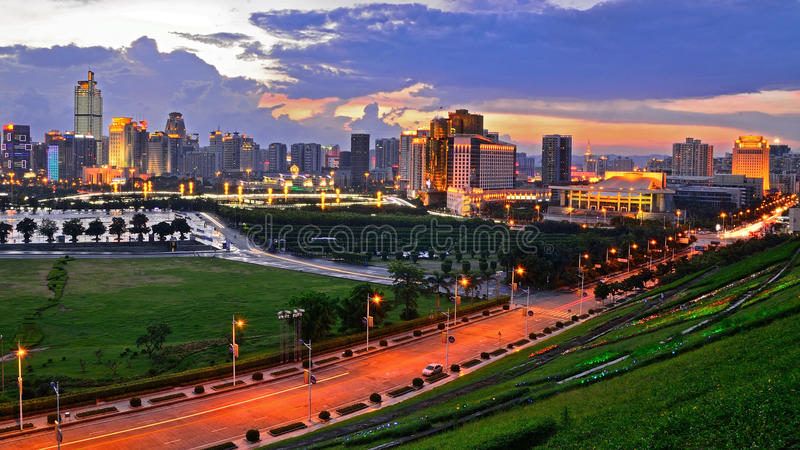 Beautiful night scenery of Nanning royalty free stock images