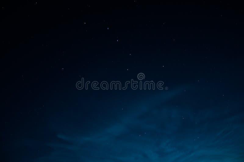 Beautiful night sky with stars. The constellation stock photo