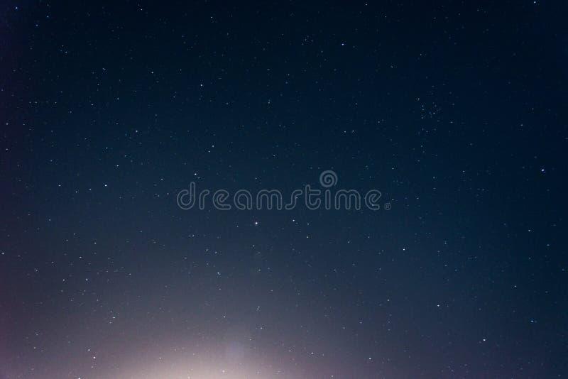 Beautiful night starry sky full frame stock photography