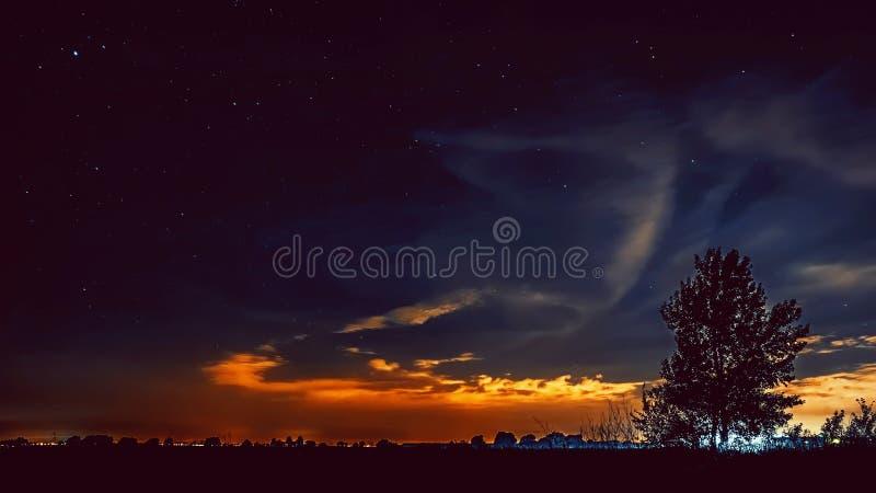 Beautiful Night Starry Sky stock photography