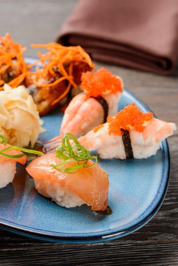 Beautiful nigiri sushi stock photo