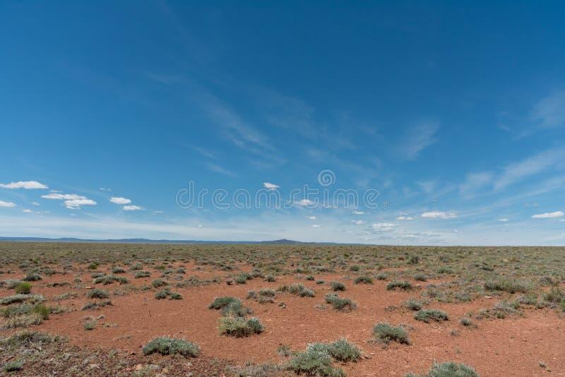 Beautiful Northern Arizona high desert vista in springtime. Elevation 5,500 feet stock photo
