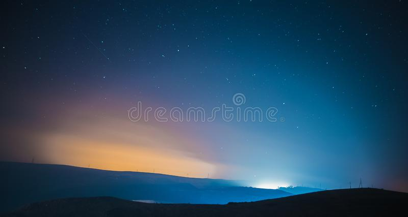 Beautiful Northern lights royalty free stock photography