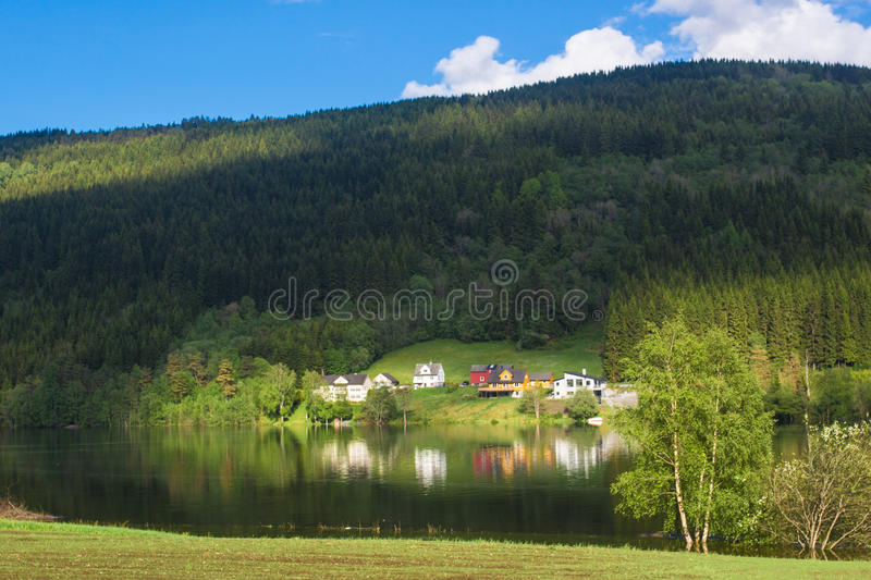 Beautiful Norway fjord landscape stock photos