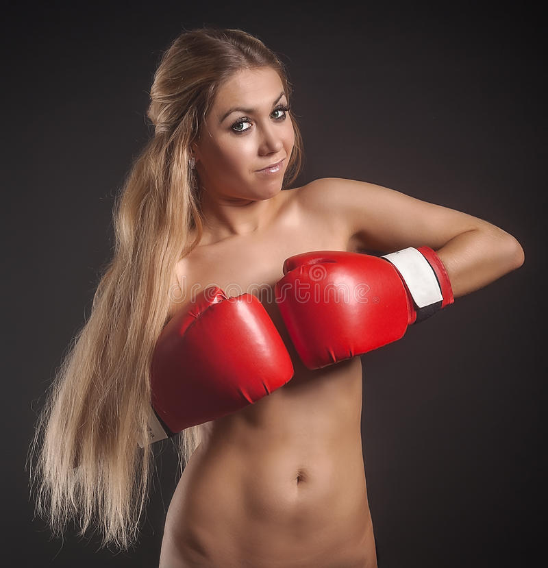 Beautiful Nude Girl With Boxing Gloves Stock Photos And Images