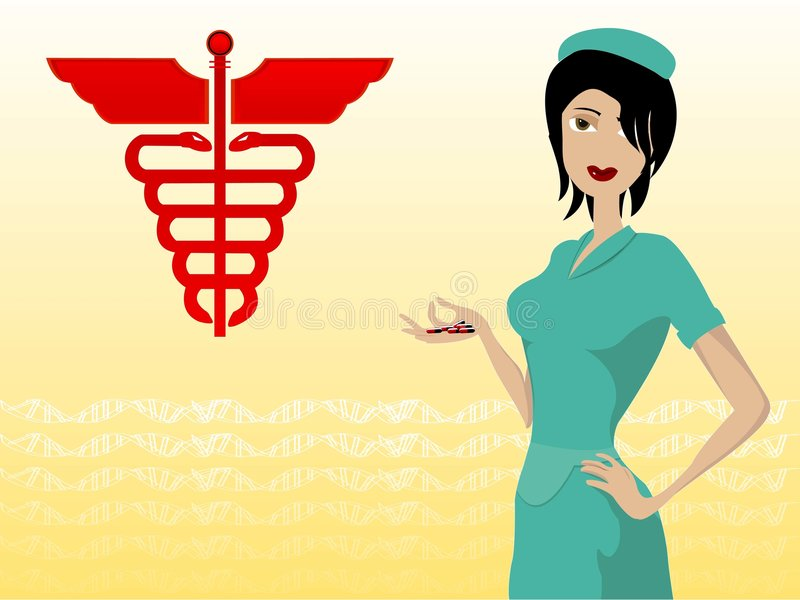 Download Beautiful nurse stock illustration. Illustration of healthy - 5532872