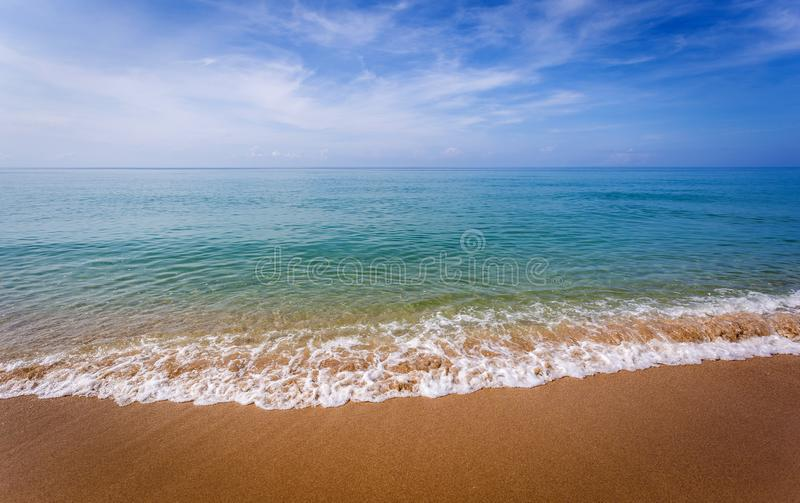 Beautiful ocean landscape at sunset time. royalty free stock image