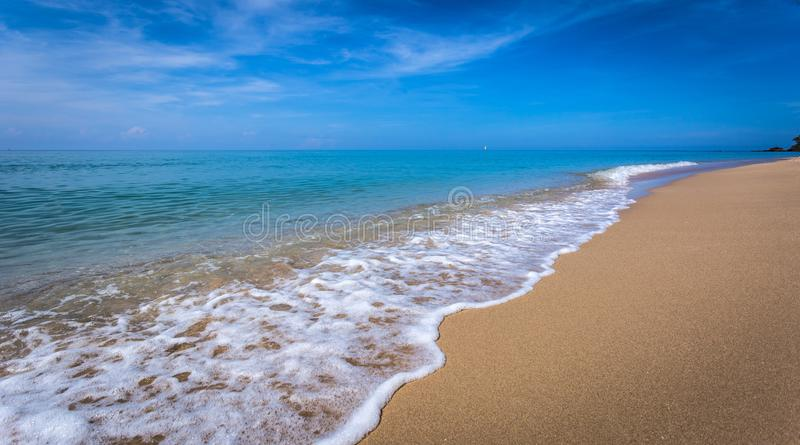 Beautiful ocean landscape at sunset time. royalty free stock photo