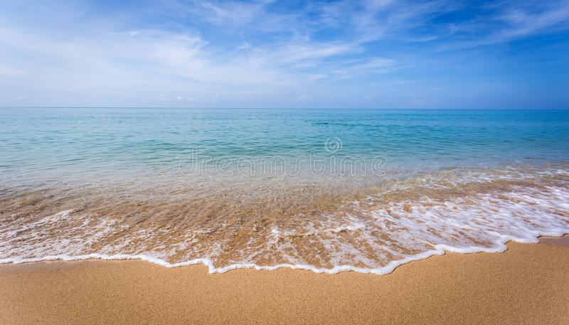 Beautiful ocean landscape at sunset time. stock images
