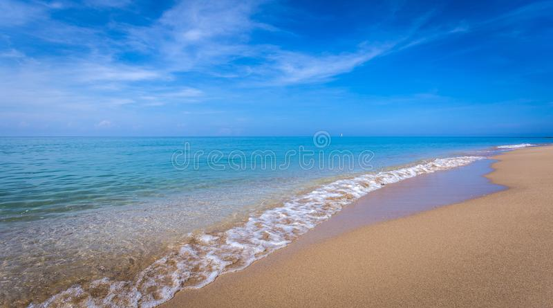 Beautiful ocean landscape at sunset time. royalty free stock photos