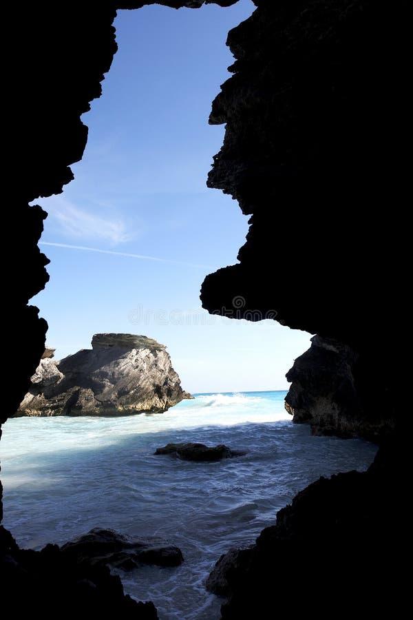 Beautiful ocean, rocks royalty free stock photography