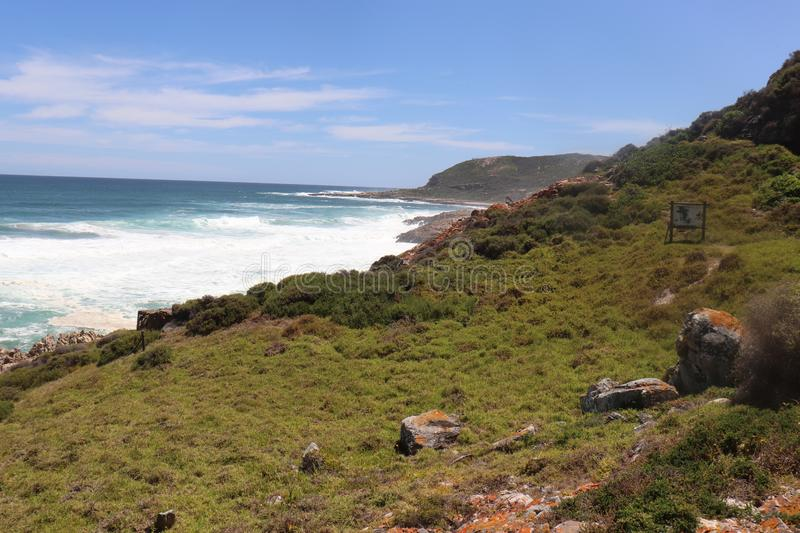 Beautiful Ocean View South Africa Robberg Trail stock images