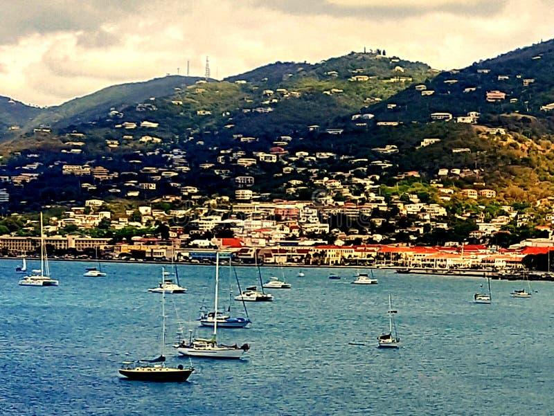 St.Thomas. Beautiful ocean view of St. Thomas Virgin Islands royalty free stock photos