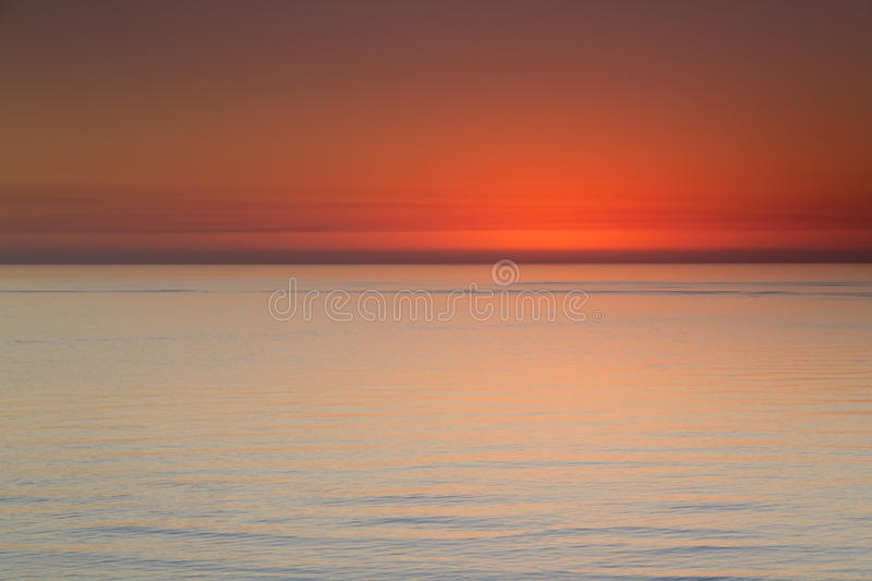 Beautiful Ocean View After Sunset Along Clearwater Beach Florida royalty free stock photo