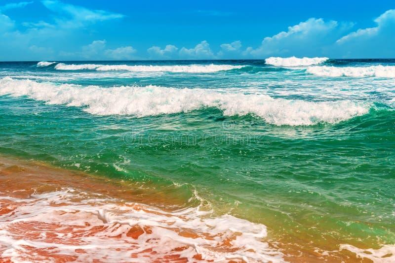 Beautiful ocean waves stock photo
