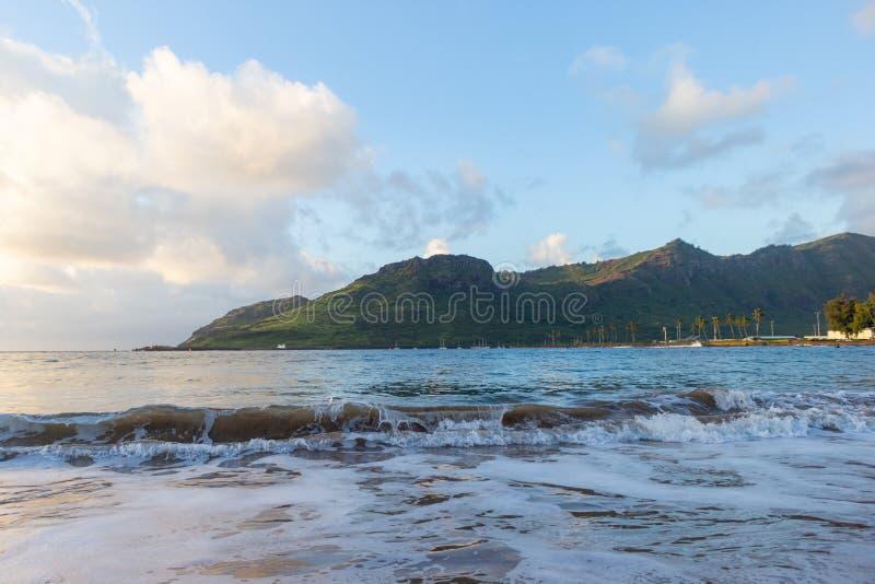Ocean waves in Kauai, Hawaii royalty free stock image
