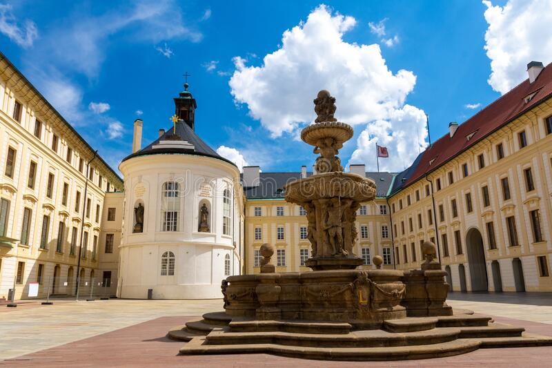 Beautiful old architecture in Hradcany in old town of Prague in Czech Republic royalty free stock photography