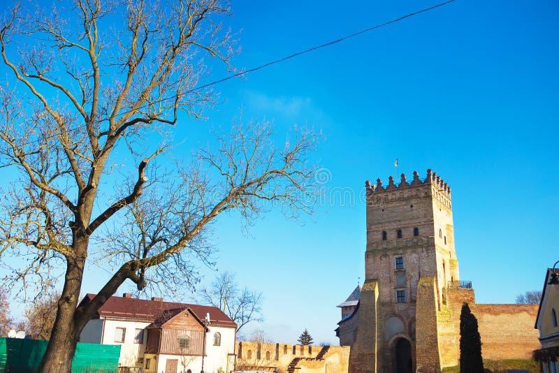 Beautiful old castle Lubart in Lutsk, Ukraine.  stock photos