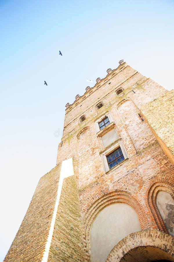 Beautiful old castle Lubart in Lutsk, Ukraine-view from below.  stock images
