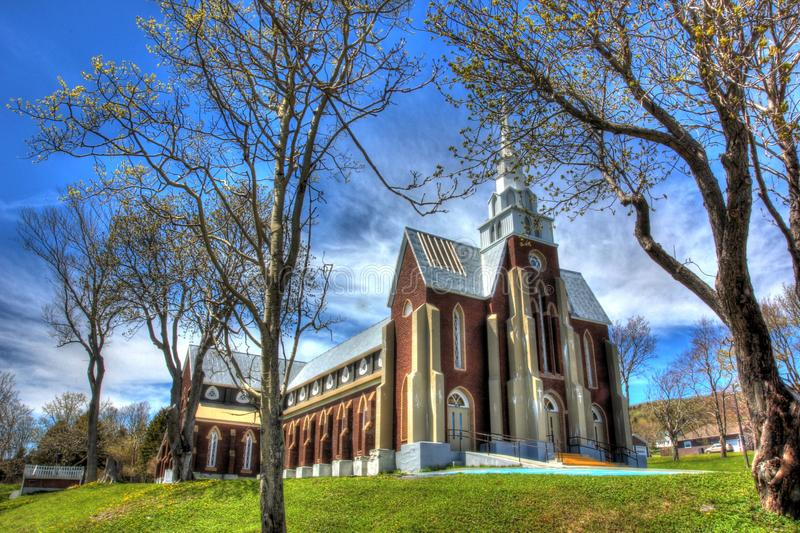 Beautiful old church. In the community of Carbonear Conception Bay Newfoundland Canada in Spring stock photography