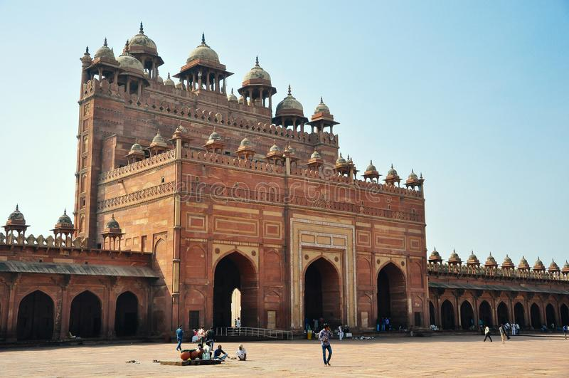 A beautiful old fort entrance, Delhi, India. royalty free stock photos