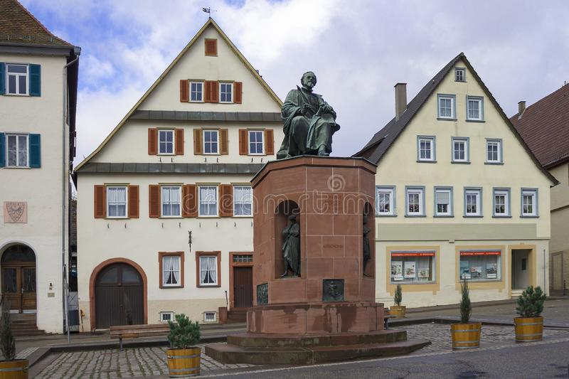 Beautiful old german town or city near Stuttgart. Weil Der Stadt, Germany. Weil Der Stadt, Germany, Jan 14, 2019: Johannes Kepler`s Motherland Old german town stock photos