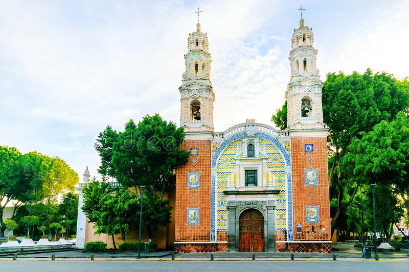 Puebla, Mexico Church. A beautiful old historic church in the colonial city of Puebla, Mexico stock photos