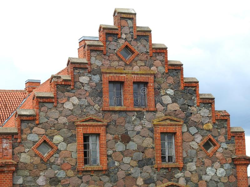 Beautiful old home wall, Lithuania royalty free stock photography