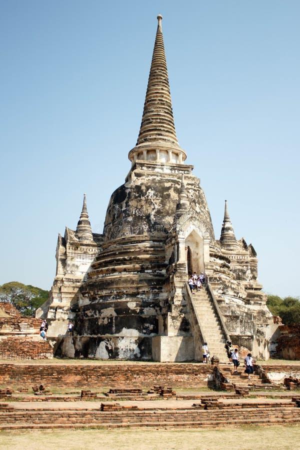 Pagoda at Wat Phra Sri Sanphet Temple, Ayutthaya- Thailand stock image