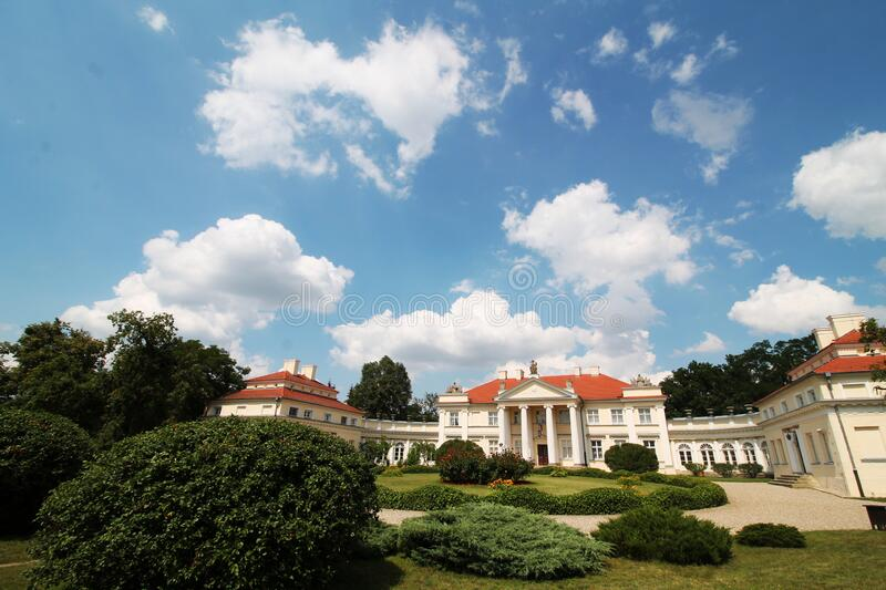 Summer palace in Poland royalty free stock image