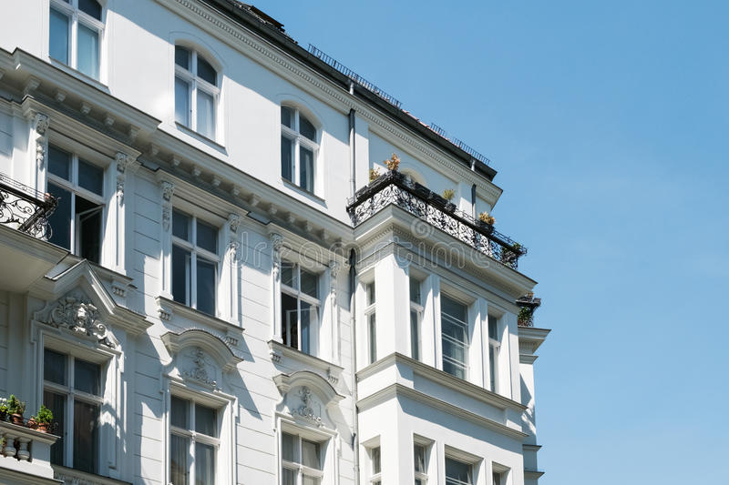 Beautiful old residential building facade. Exterior stock images
