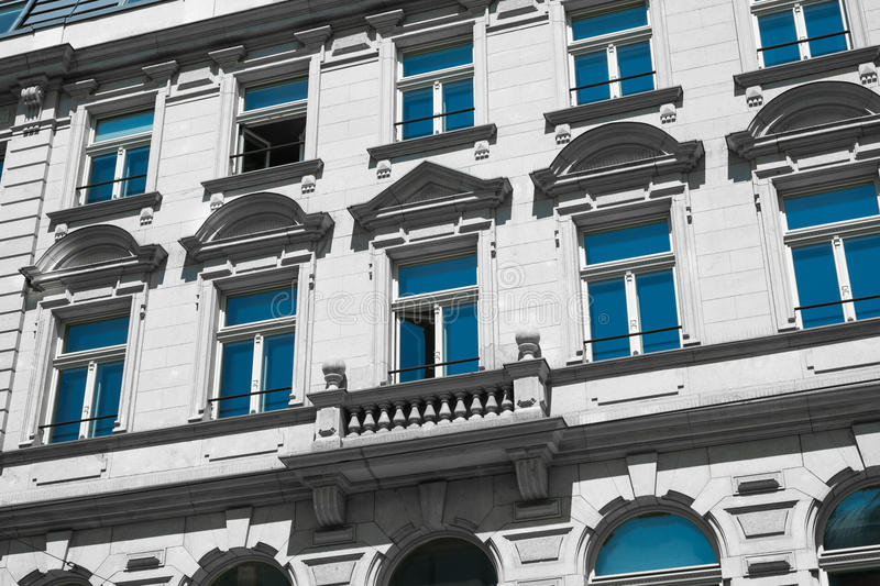 Beautiful old residential building facade. Exterior royalty free stock photo