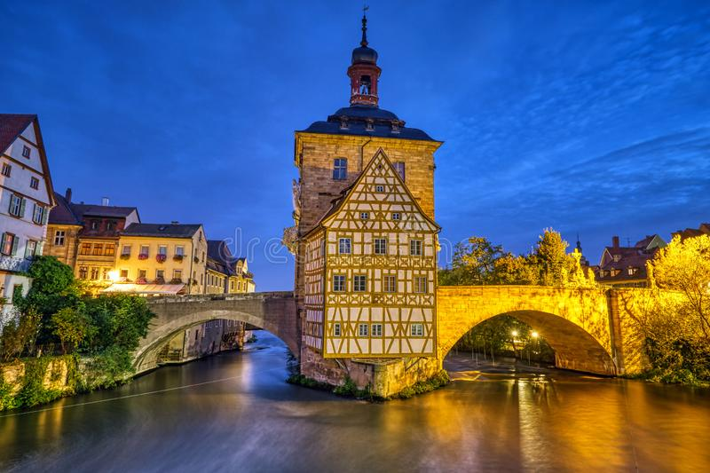 The beautiful Old Town Hall of Bamberg royalty free stock images