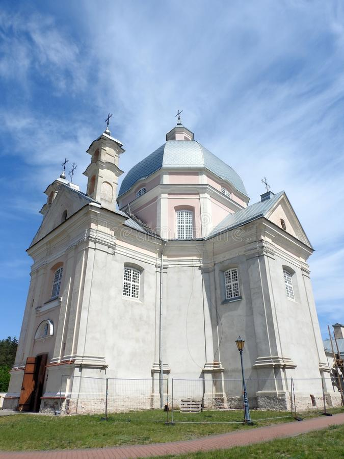 Old beautiful catholic church, Lithuania royalty free stock images