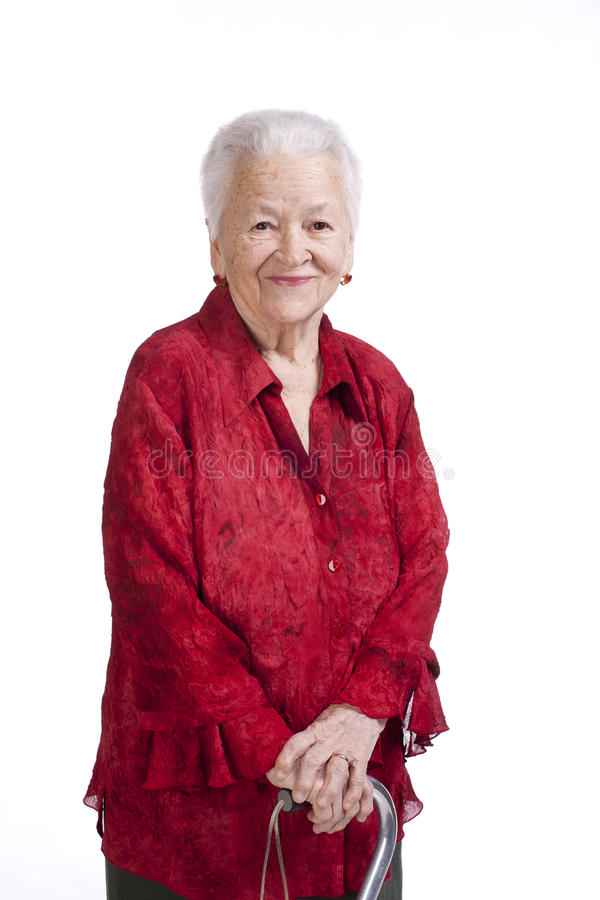 Download Beautiful Old Woman With A Cane Royalty Free Stock Image - Image: 29085986