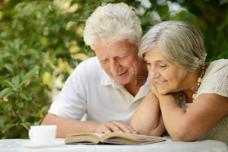 Beautiful older couple stock images