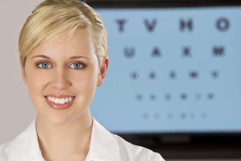 Beautiful Optician royalty free stock photos
