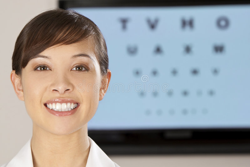 Beautiful Optician stock photography